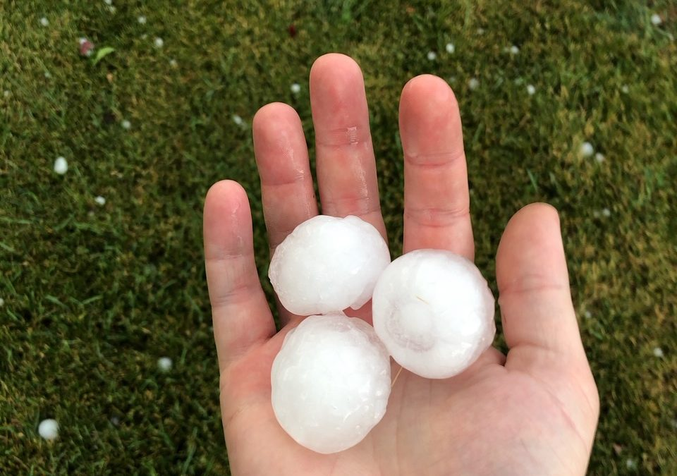 Large hail stones in Rapid City