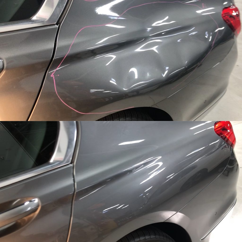 Large dent fixed by Dent Shop
